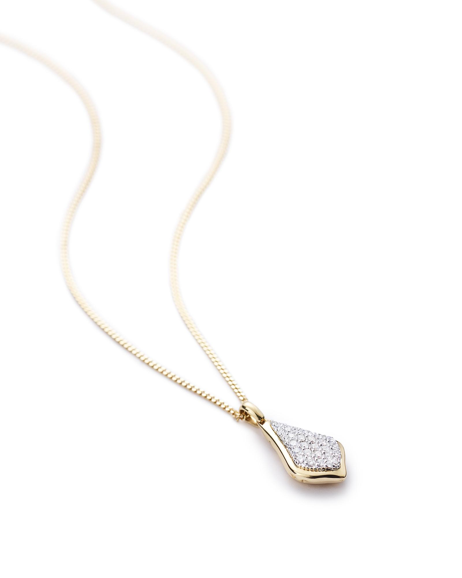 Lela Pendant Necklace in Pave Diamonds
