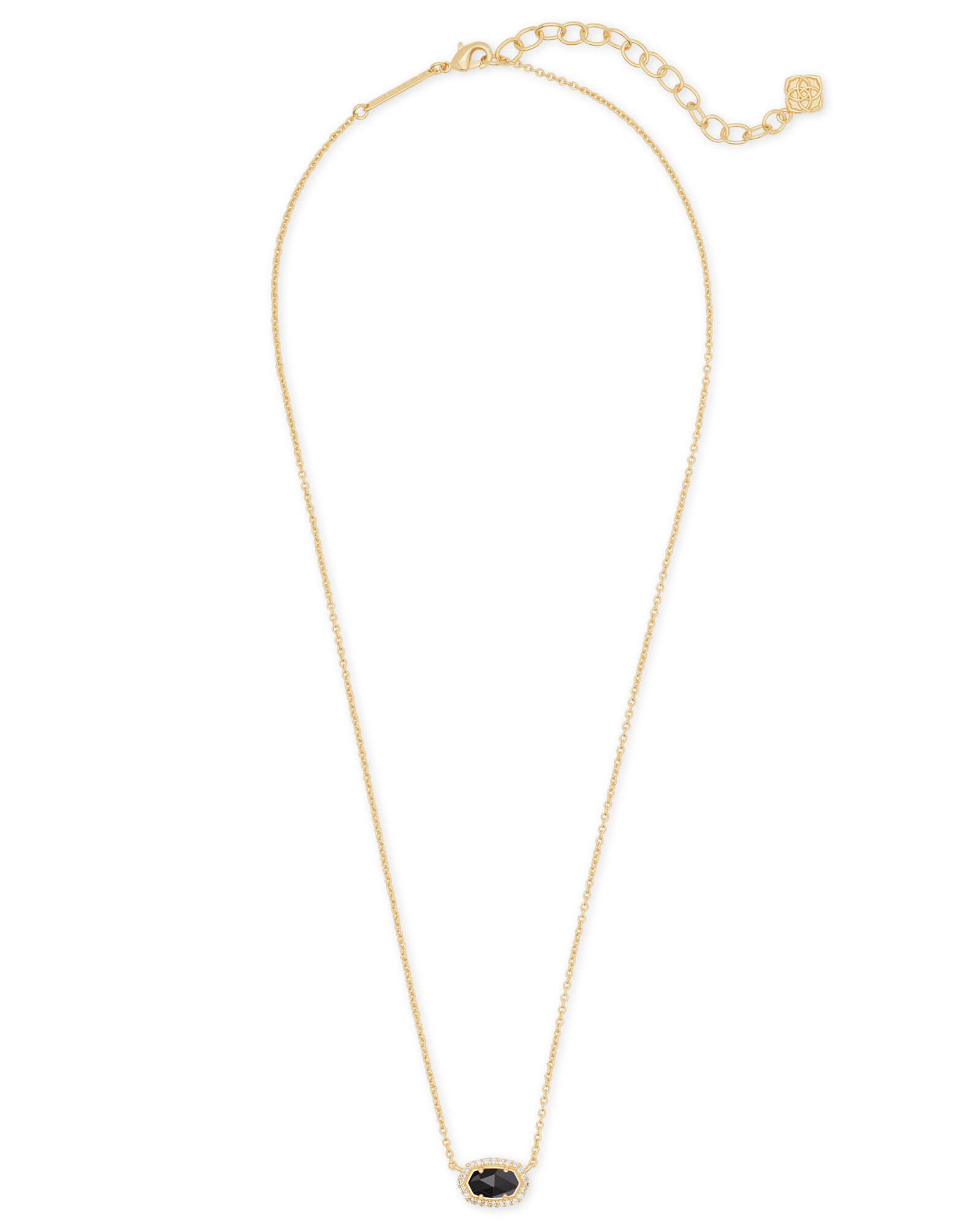 Chelsea Gold Pendant Necklace in Black