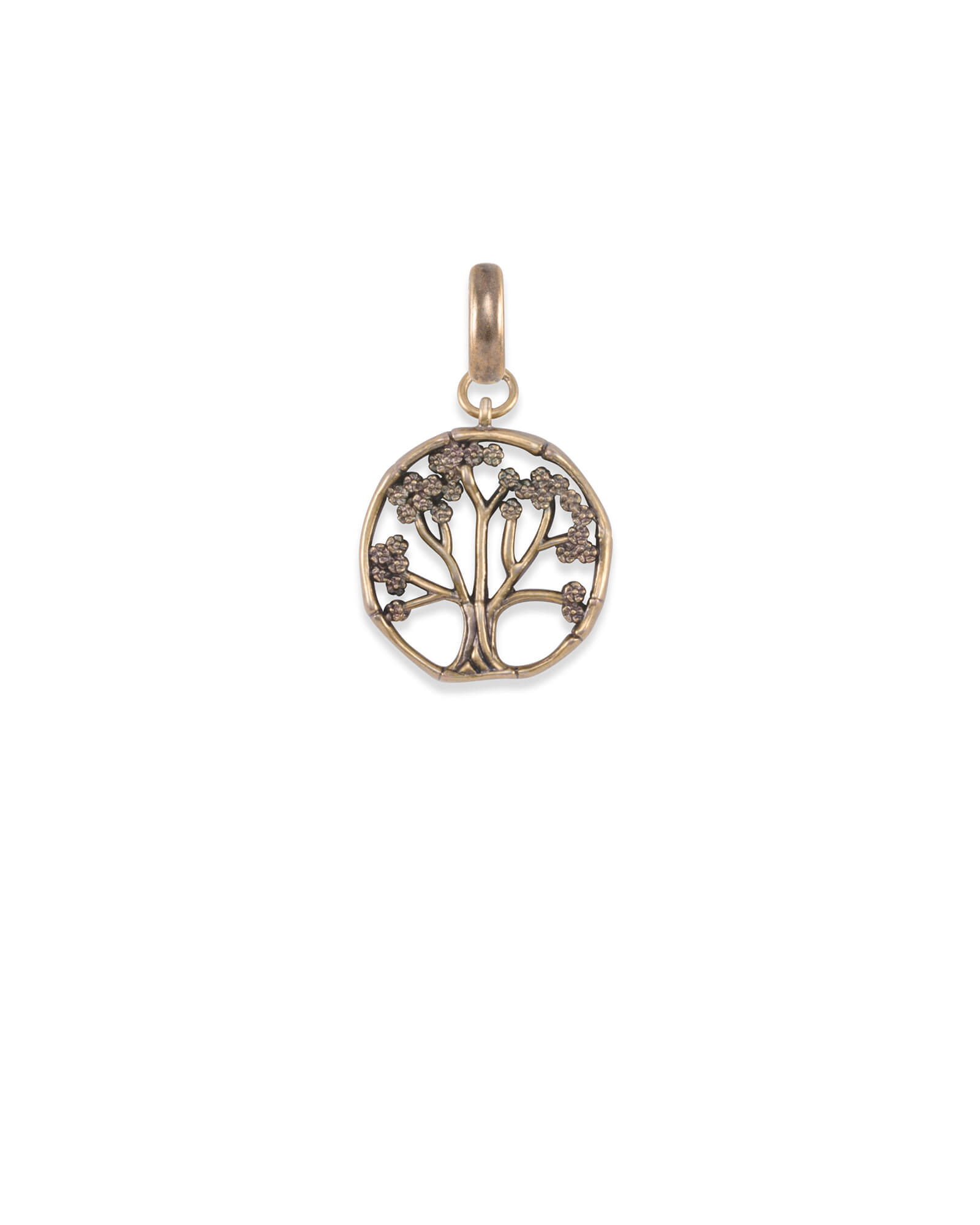 Cherry Blossom Tree Charm in Vintage Gold