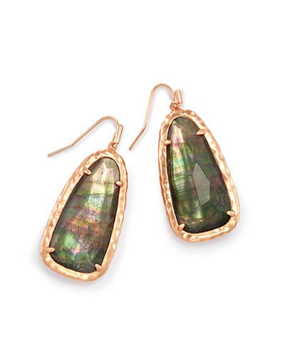 Lyn Drop Earrings in Crystal Gray Illusion