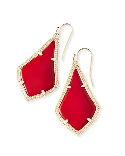Alex Earrings in Bright Red
