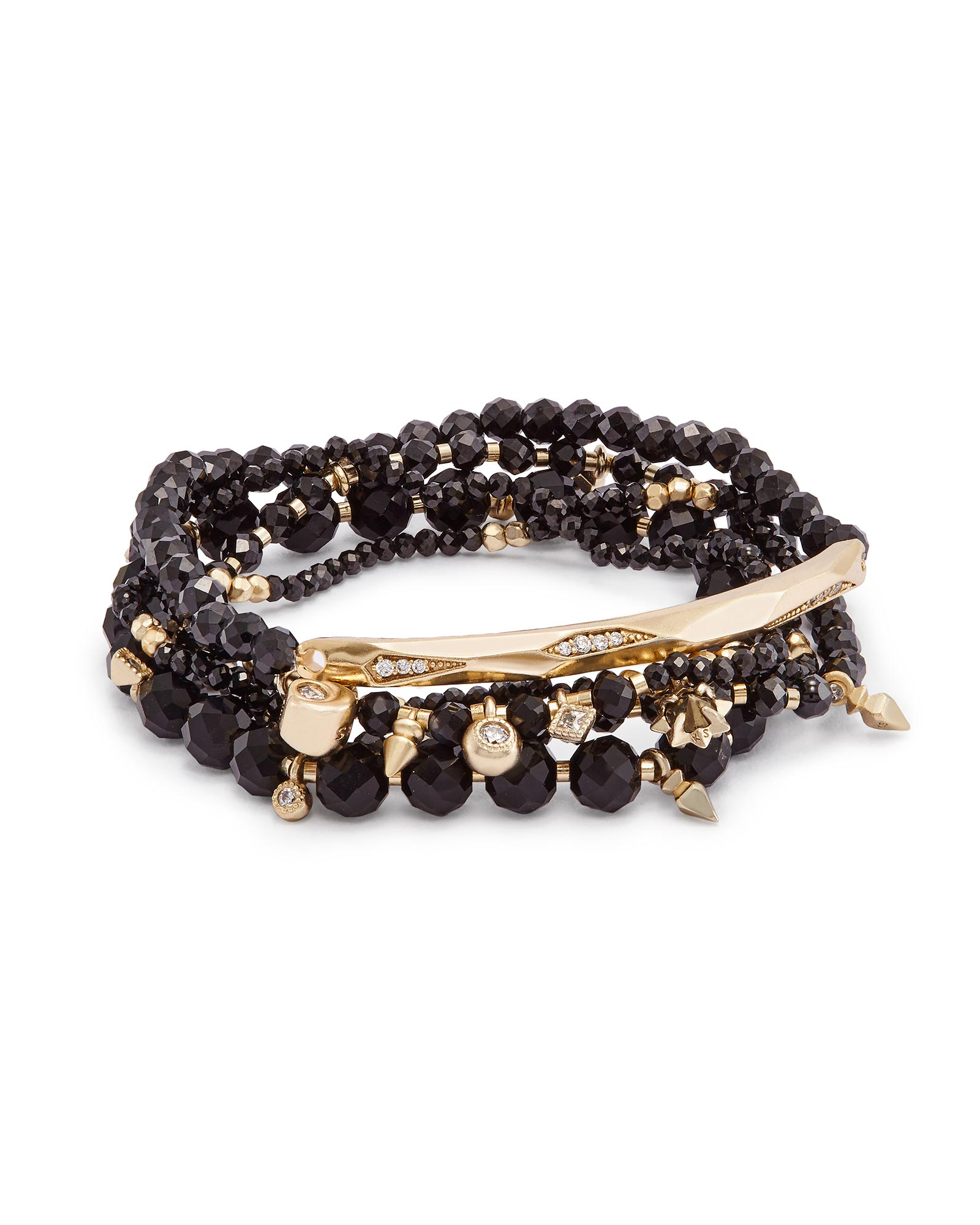 Supak Beaded Bracelet Set in Brass
