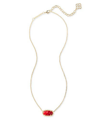 Kendra Scott - Elisa Pendant Necklace in Bright Red Photo