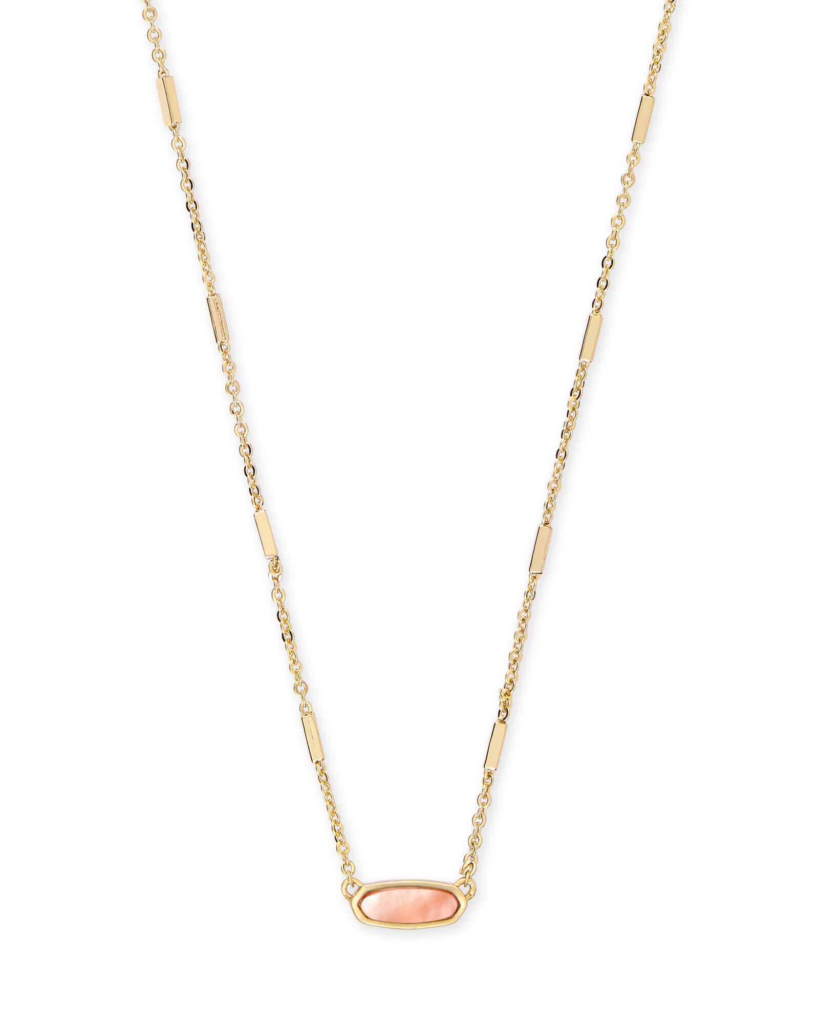 Miya Gold Pendant Necklace in Peach Pearl