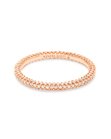 Remi 14k Rose Gold Band Ring In White Diamonds - 5