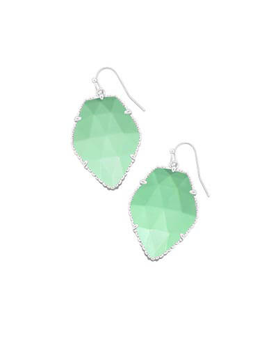 Corley Silver Drop Earrings in Mint