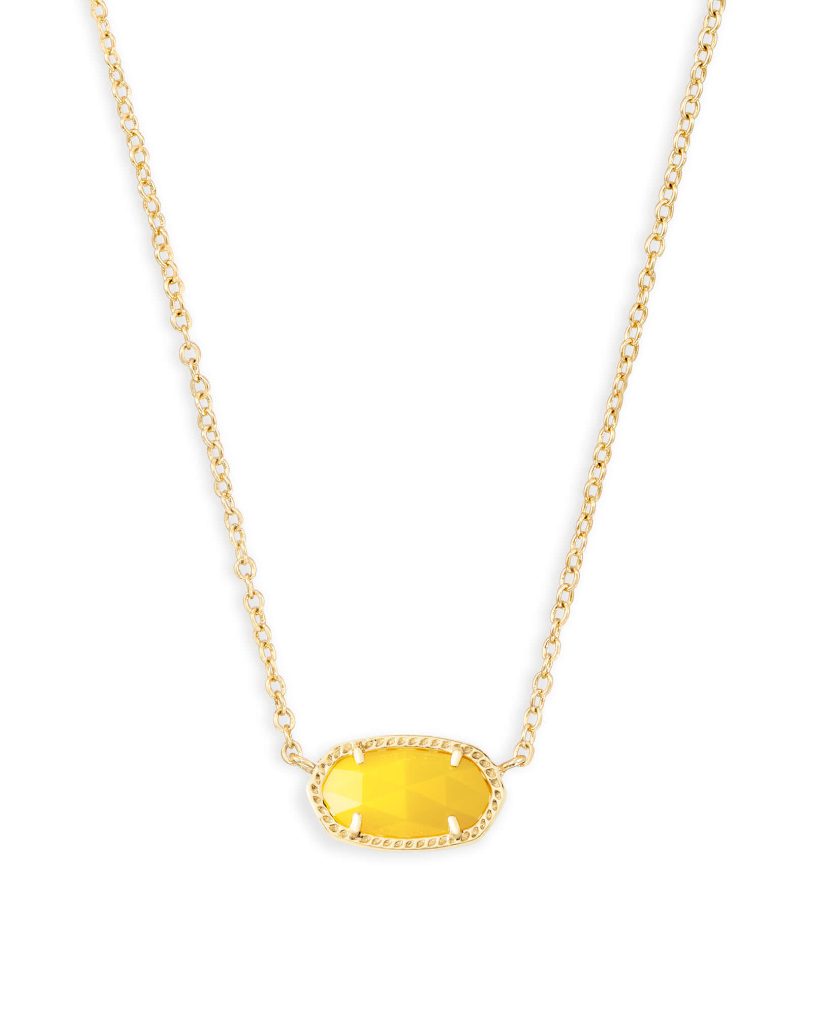 Elisa Pendant Necklace in Yellow