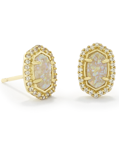 Cade Stud Earrings in Gold