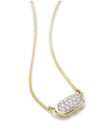Lisa Pendant Necklace in Pave Diamond and 14k Yellow Gold