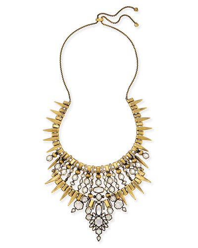 Seraphina Statement Necklace in Antique Brass