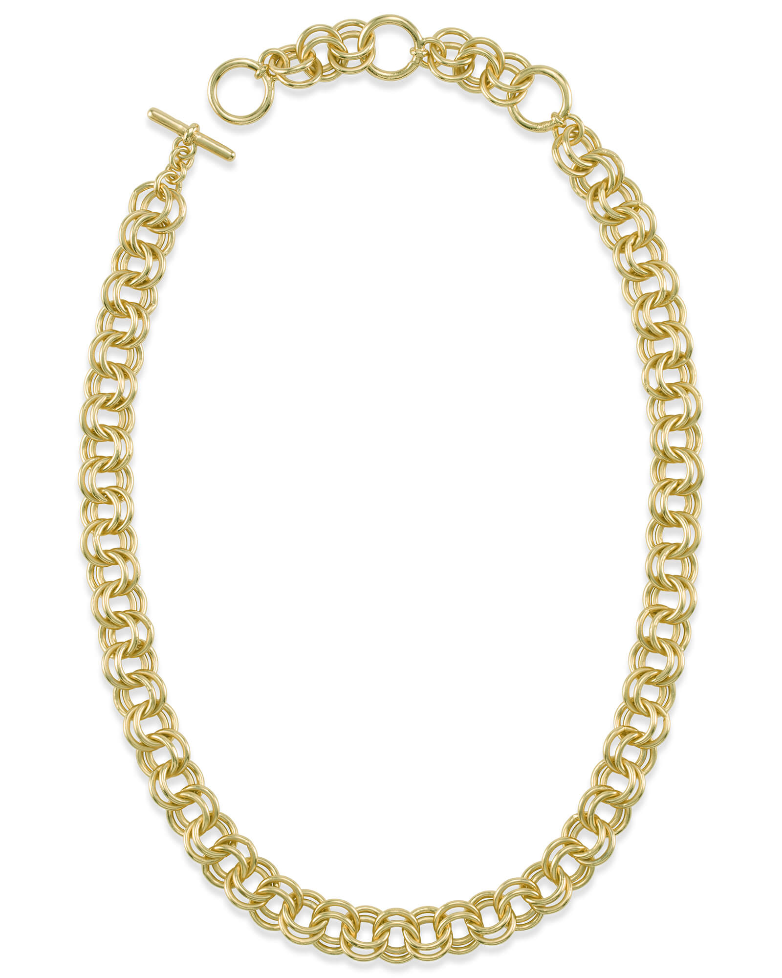 18 Inch Double Chain Link Necklace