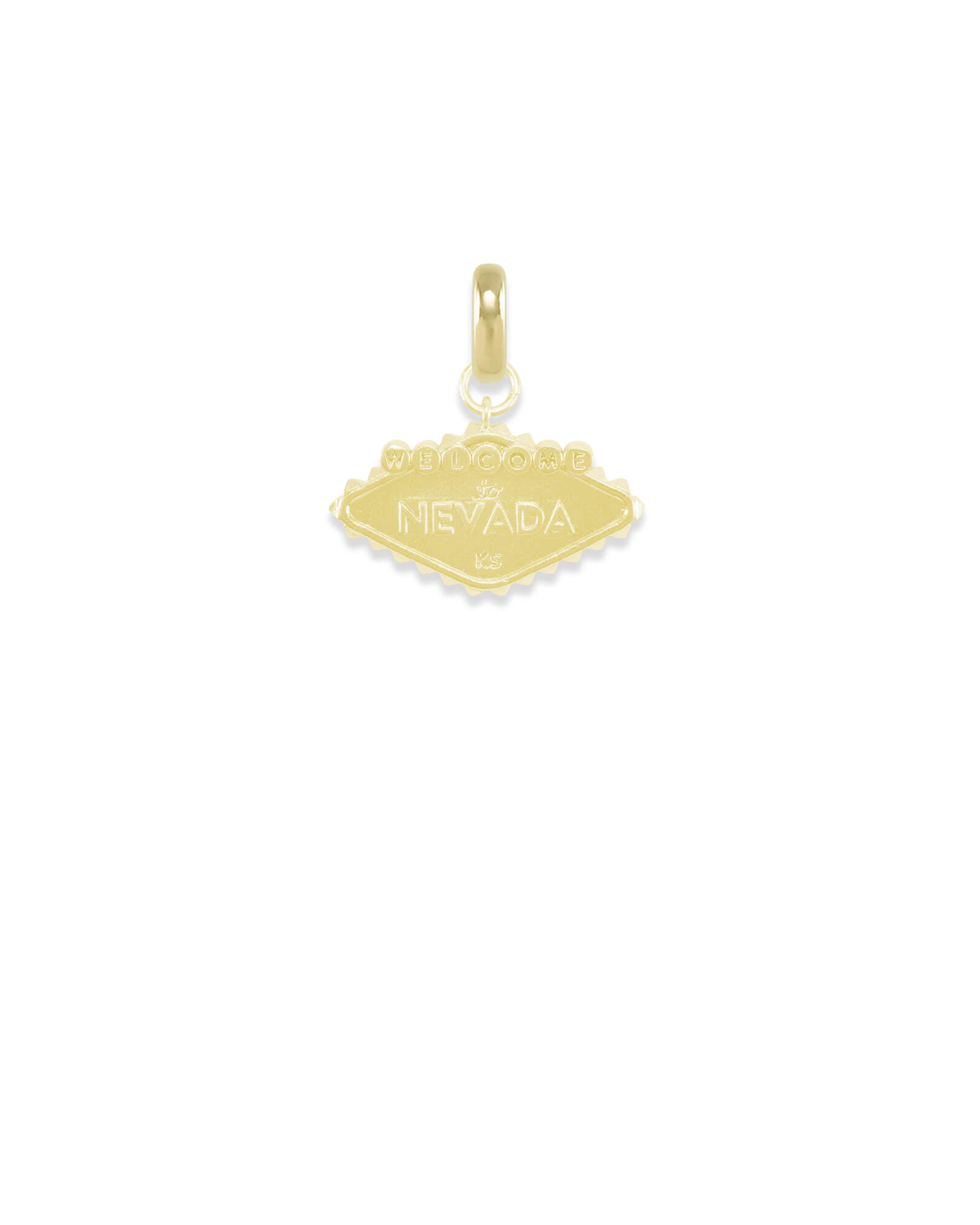 Nevada Las Vegas Sign Charm in Gold
