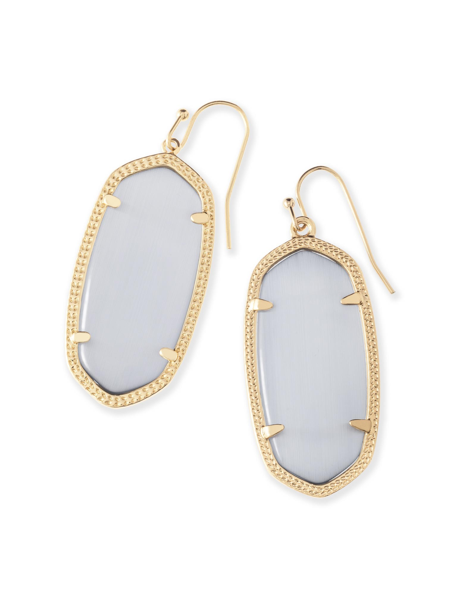 953cb591a Elle Gold Drop Earrings in Slate Cats Eye | Kendra Scott