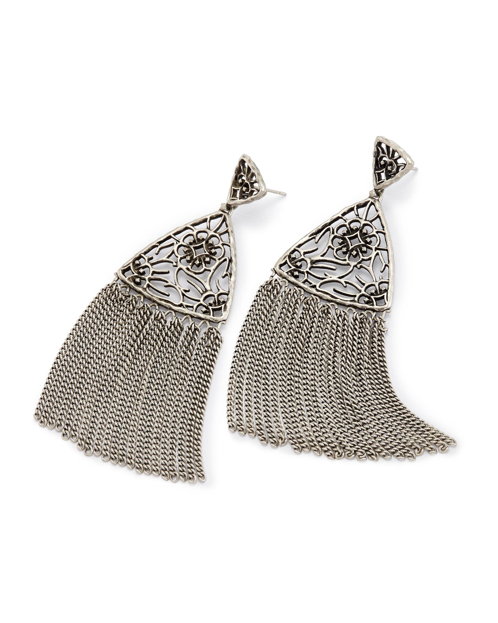 Ana Statement Earrings in Antique Silver