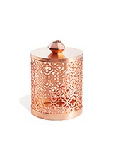 Filigree Canister in Rose Gold Drusy
