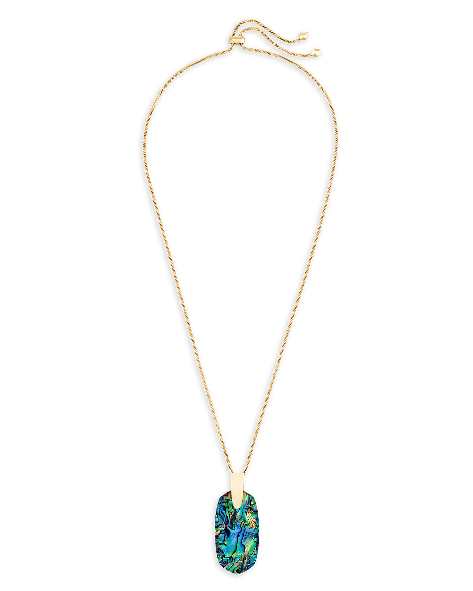 Inez Long Pendant Necklace in Gold