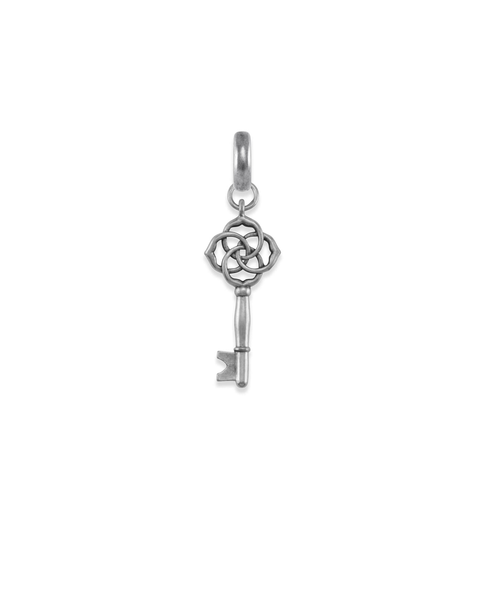 Home & Shelter Charm in Vintage Silver