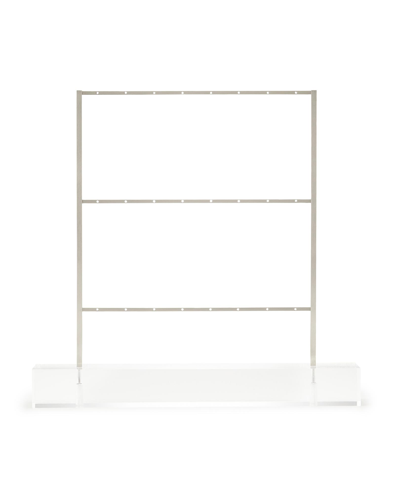Earring Ladder Jewelry Stand in Antique Silver