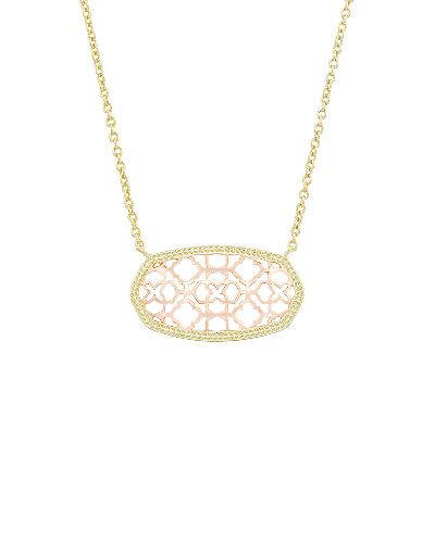 Dollie Pendant Necklace in Rose Gold