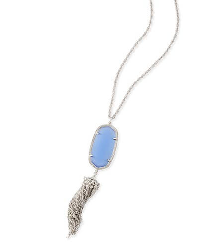 Rayne Silver Necklace in Periwinkle Cat's Eye