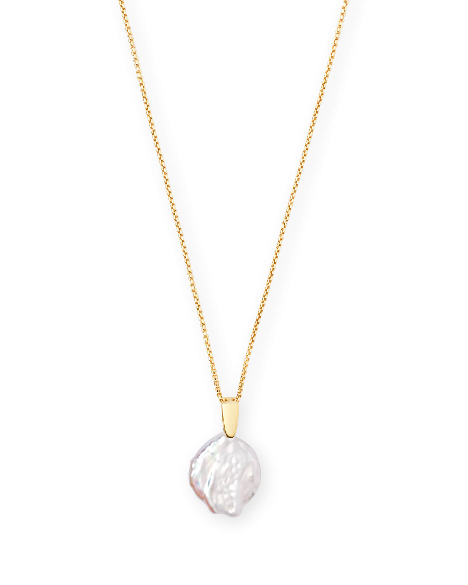 bfe9e224b1531 Priscilla Gold Pendant Necklace in Pearl | Kendra Scott