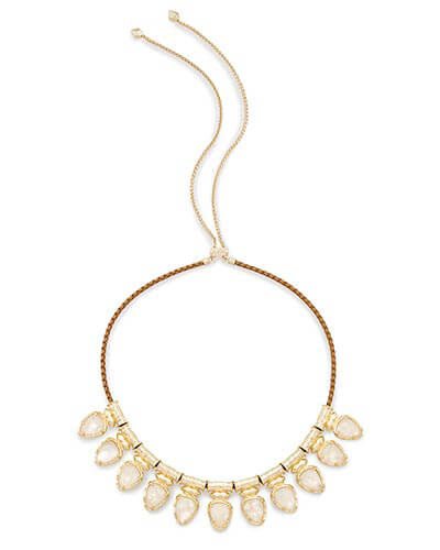 Willow Choker Necklace in Crystal Ivory Illusion
