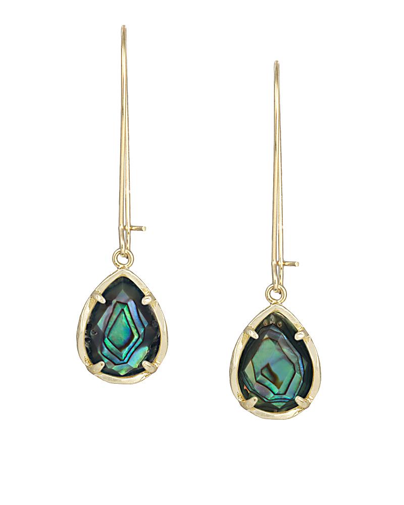 Dee abalone shell drop earrings in gold kendra scott for Kendra scott fine jewelry