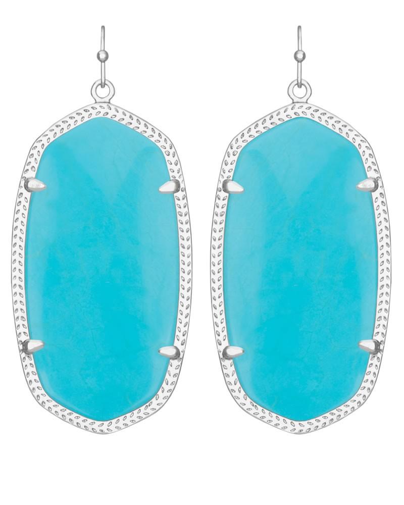 Danielle Silver Earrings In Turquoise