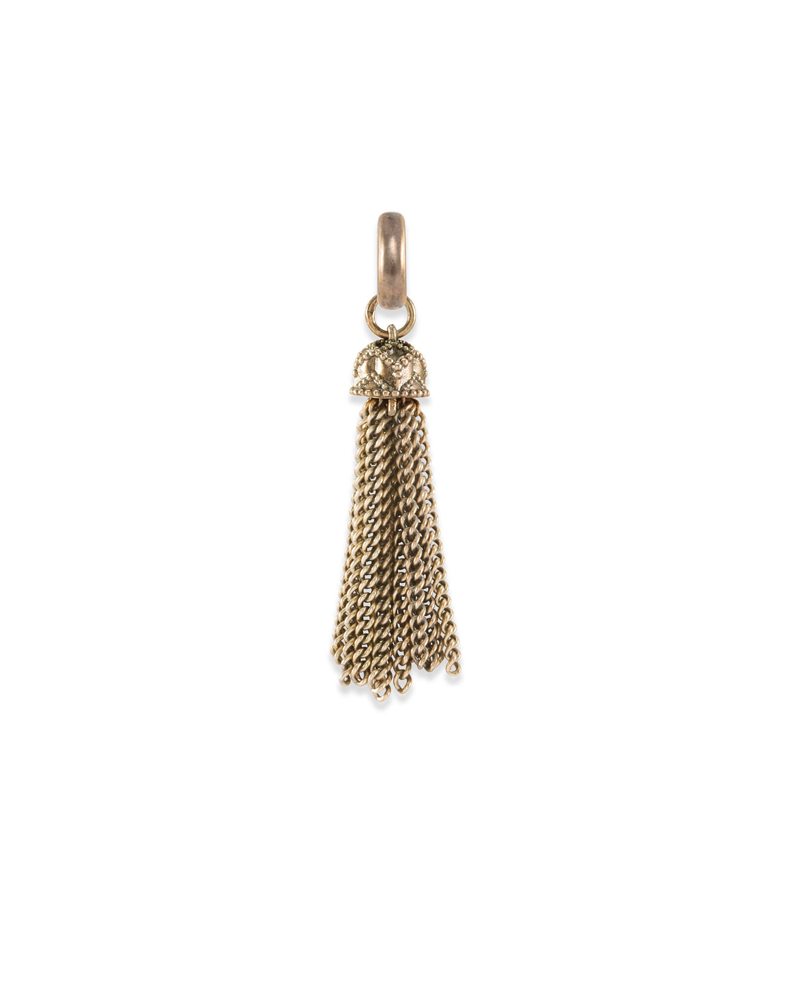 Small Tassel Charm in Vintage Gold