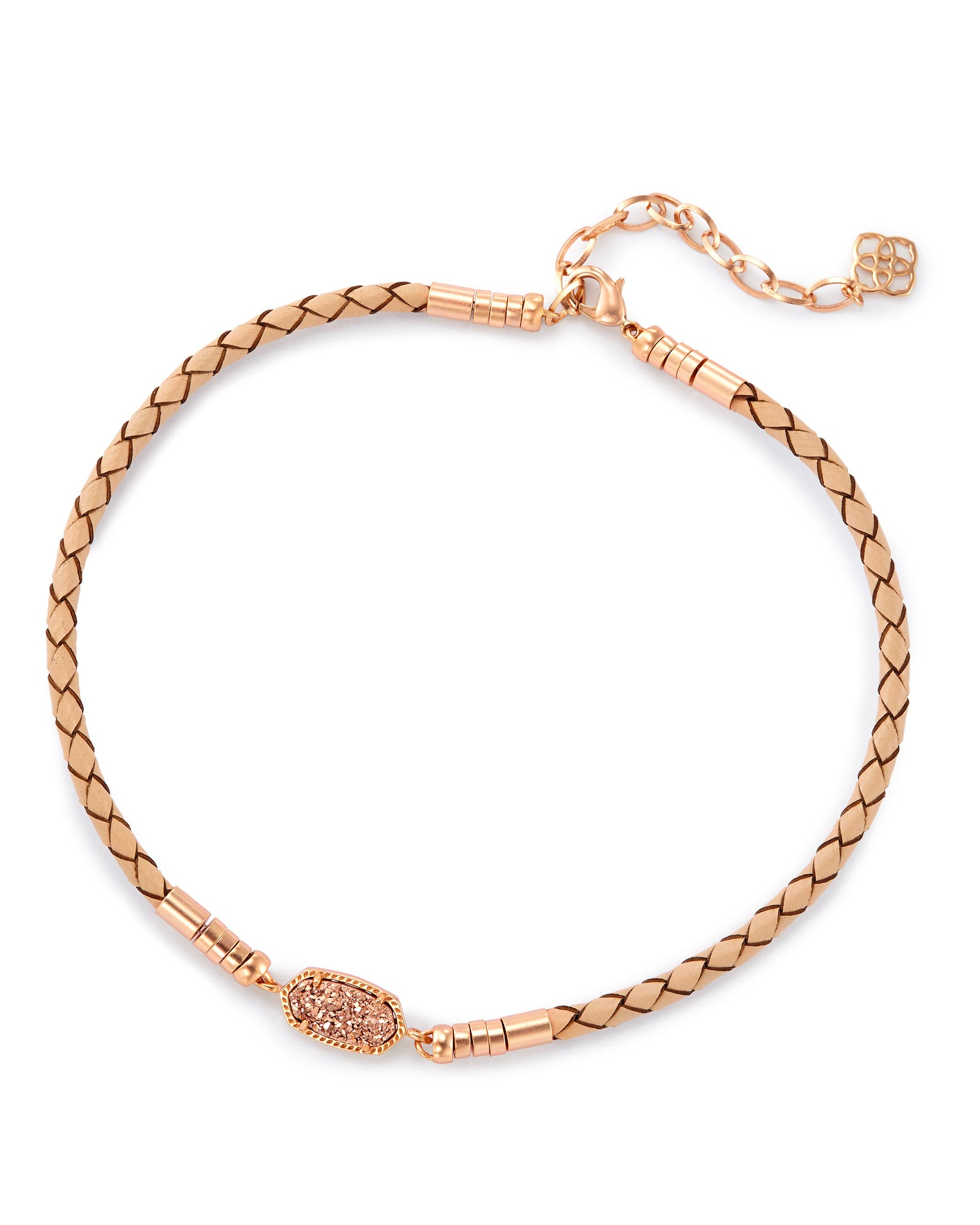 Cooper Pendant Necklace in Rose Gold Drusy