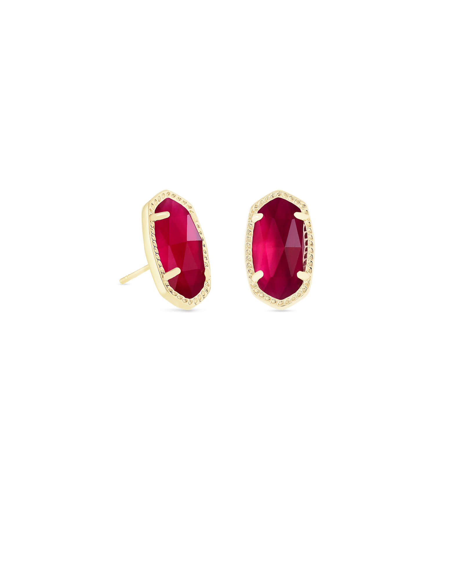 Ellie Gold Stud Earrings in Berry Illusion