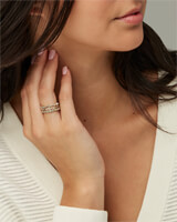 Karis Silver Stackable Ring Set