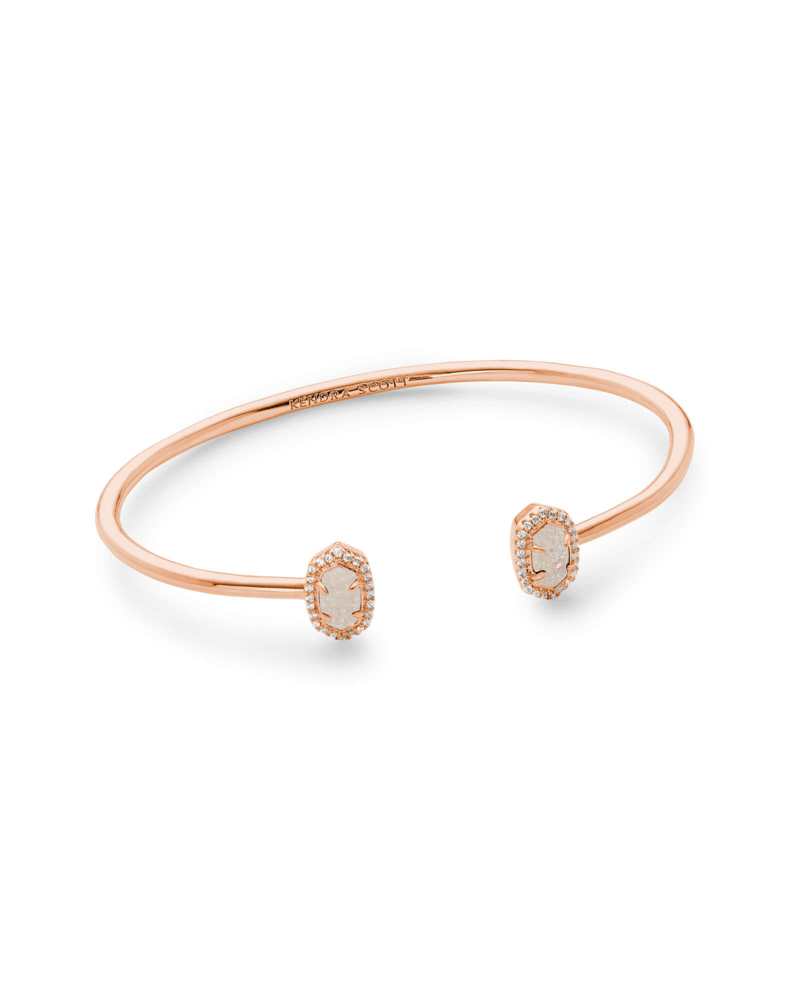 Calla Cuff Bracelet in Rose Gold