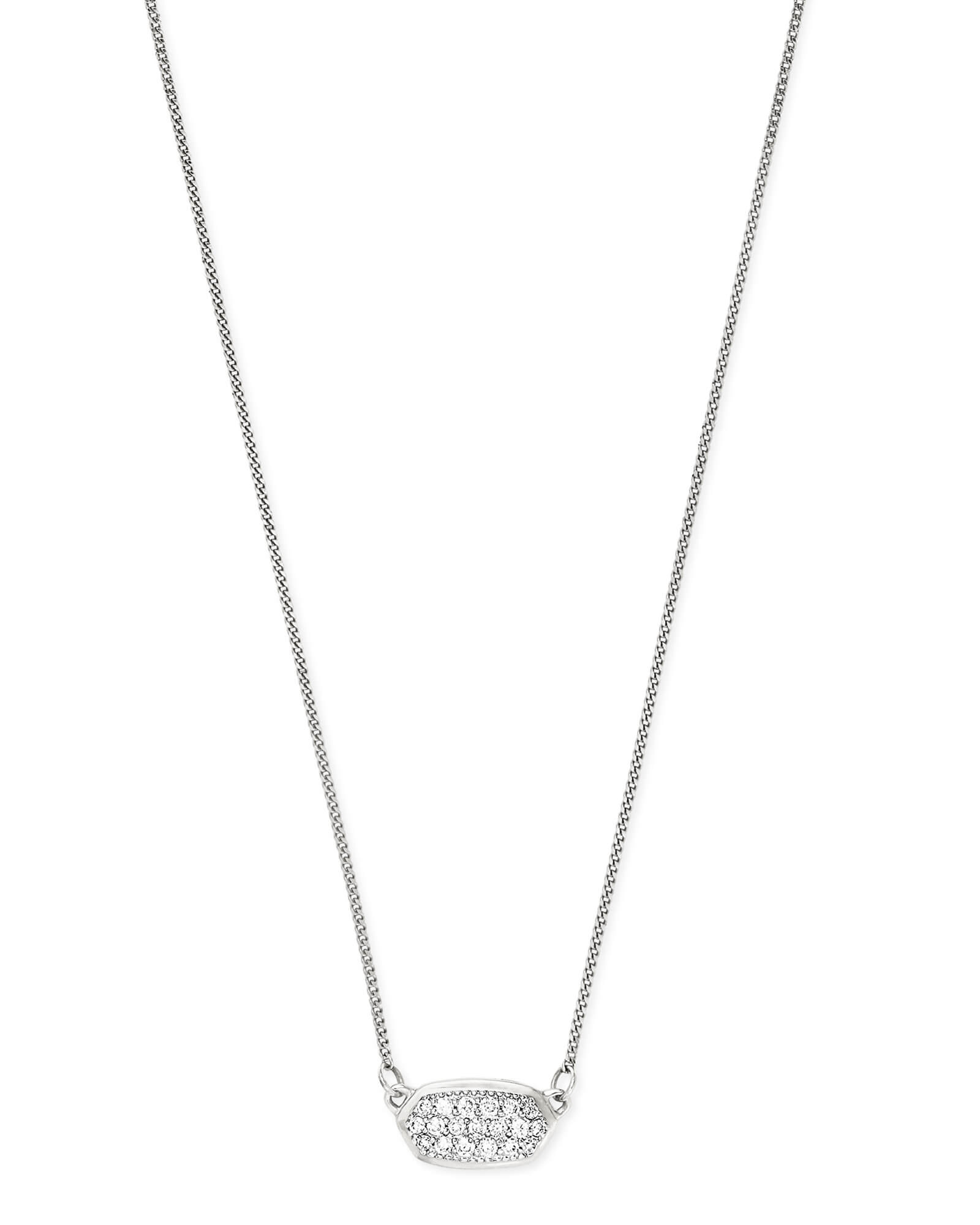a480cdd19e80e Lisa Necklace Pave Diamond and 14k White Gold | Kendra Scott