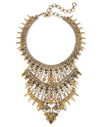 Serayah Statement Necklace in Antique Brass