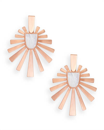 Cambria Statement Earrings in Rose Gold