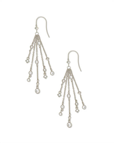 Wilma Drop Earrings in Silver