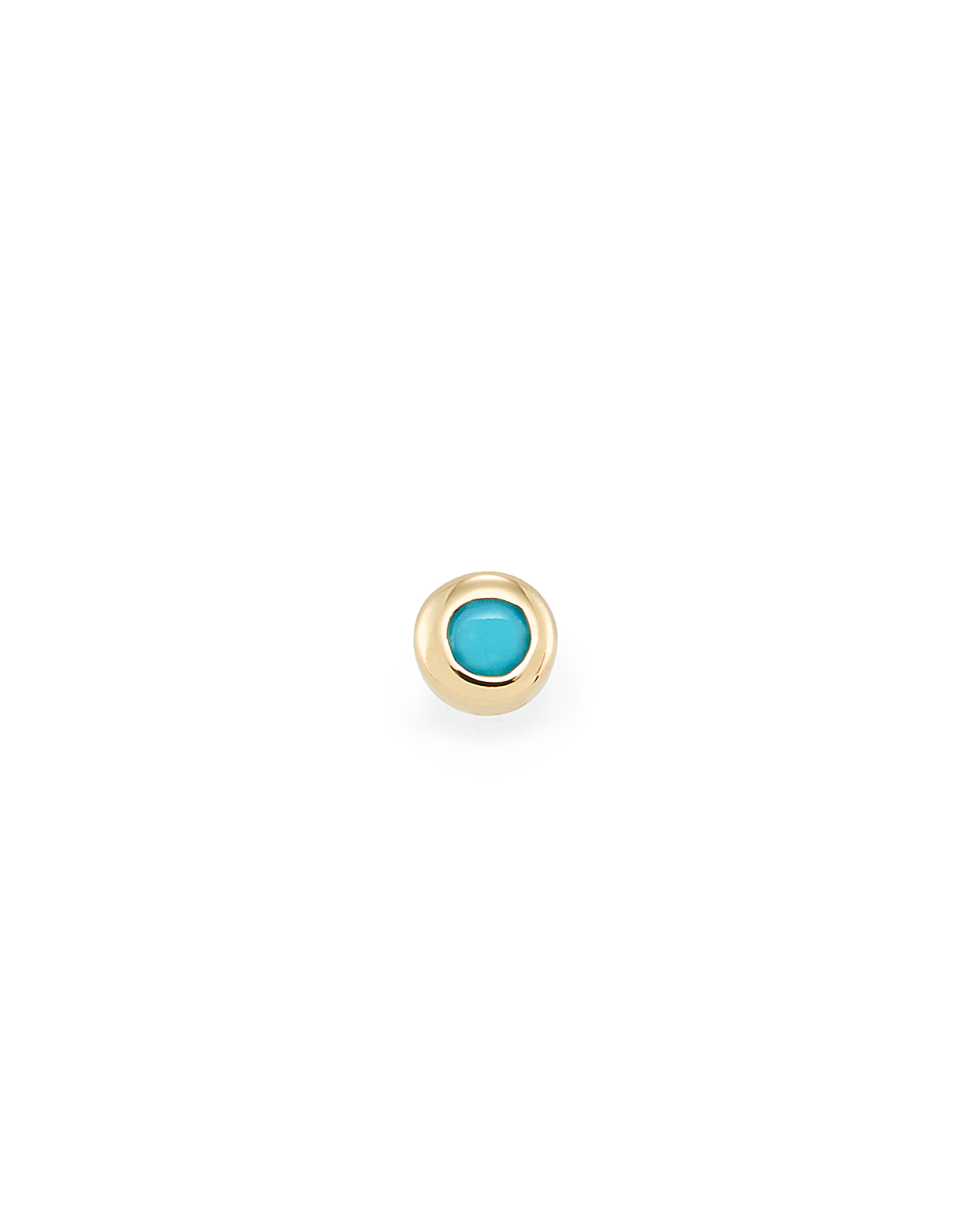 Reeve Mini 14K Yellow Gold Stud Earring in Turquoise