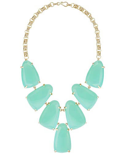 Harlow Statement Necklace in Chalcedony