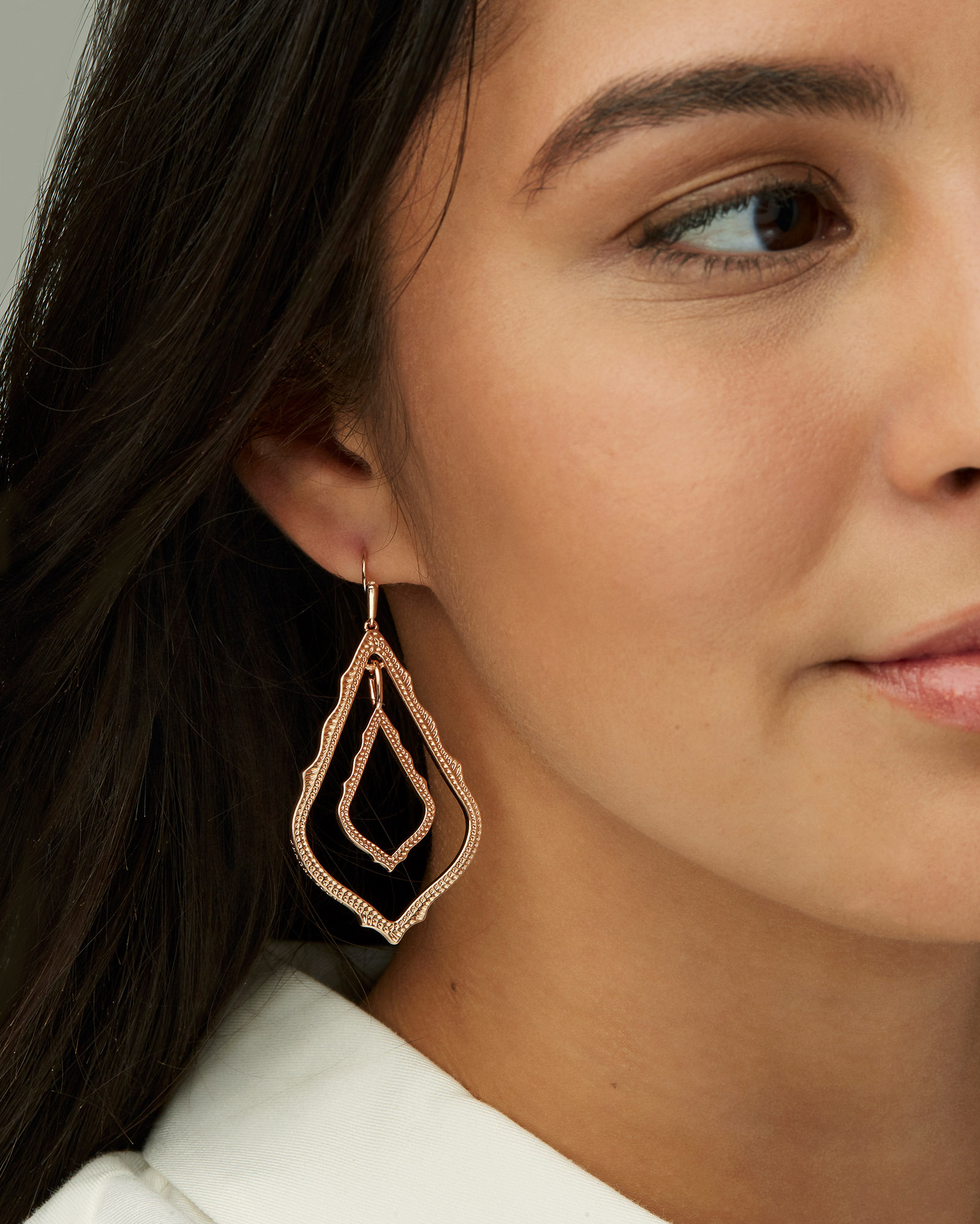 Simon Drop Earrings in Mixed Metal