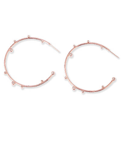 Lety Hoop Earrings in Rose Gold