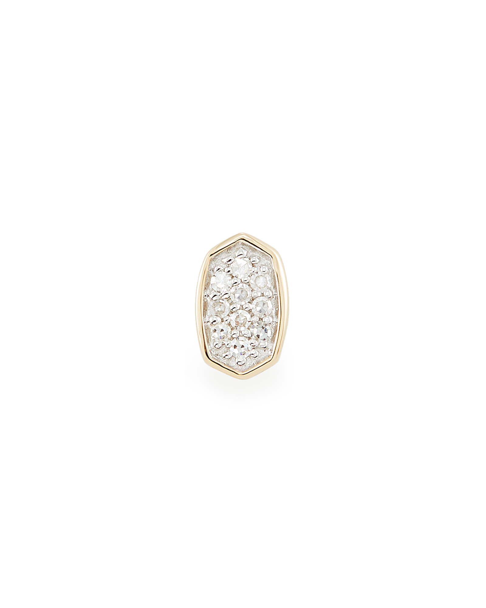 Marisa Mini 14K Yellow Gold Stud Earring in White Diamond