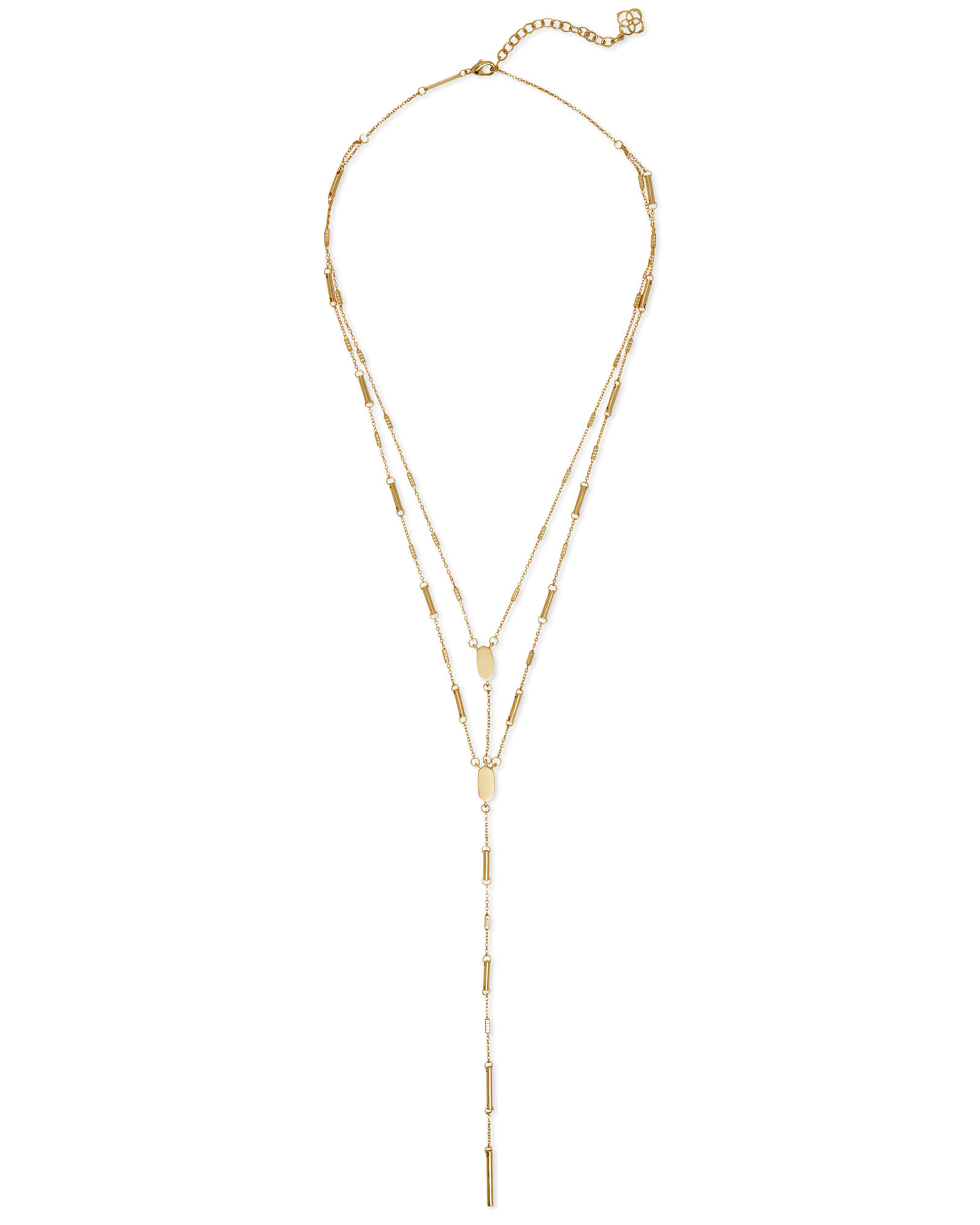 Adelia Y Necklace in Gold