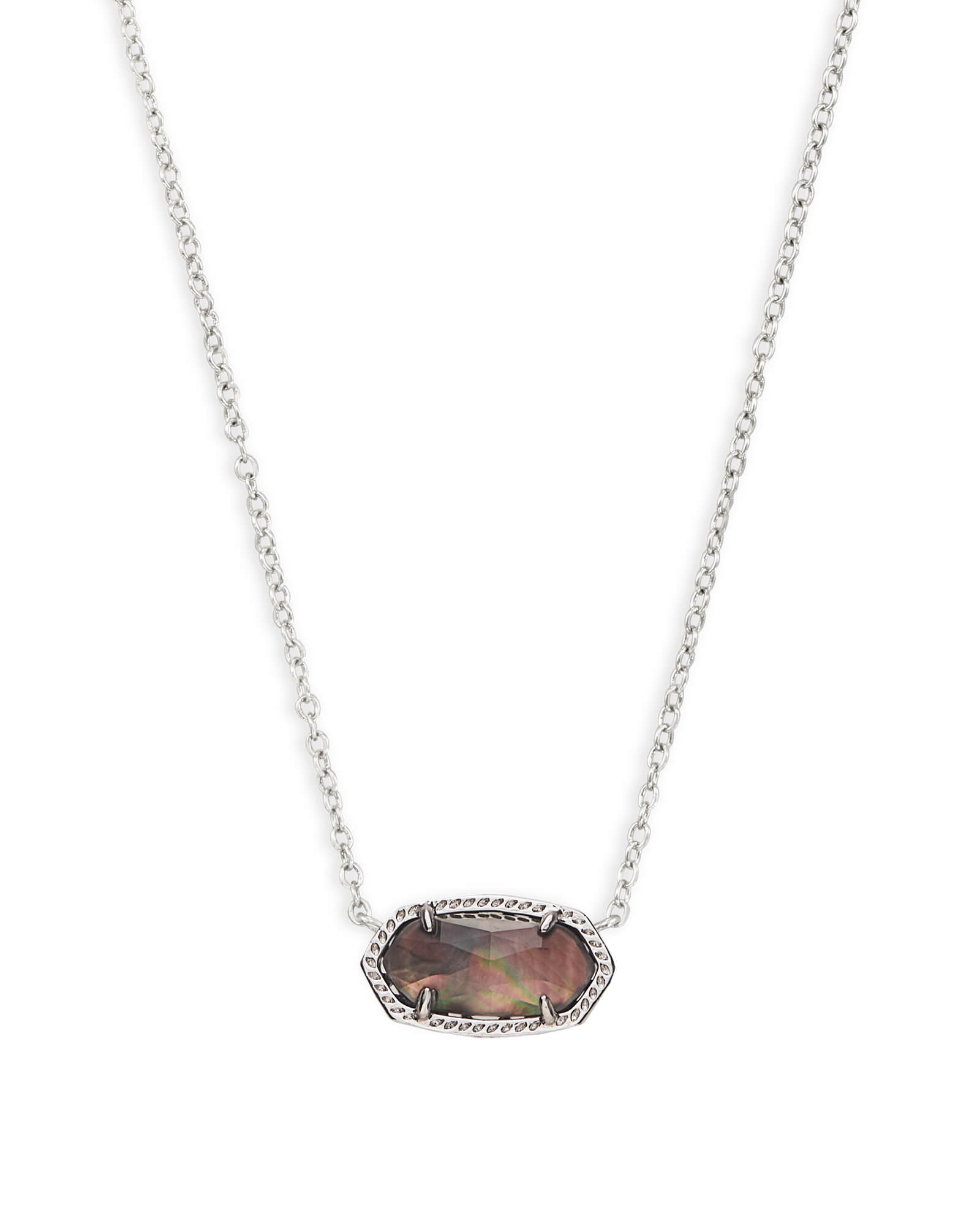 Elisa Pendant Necklace in Black Pearl