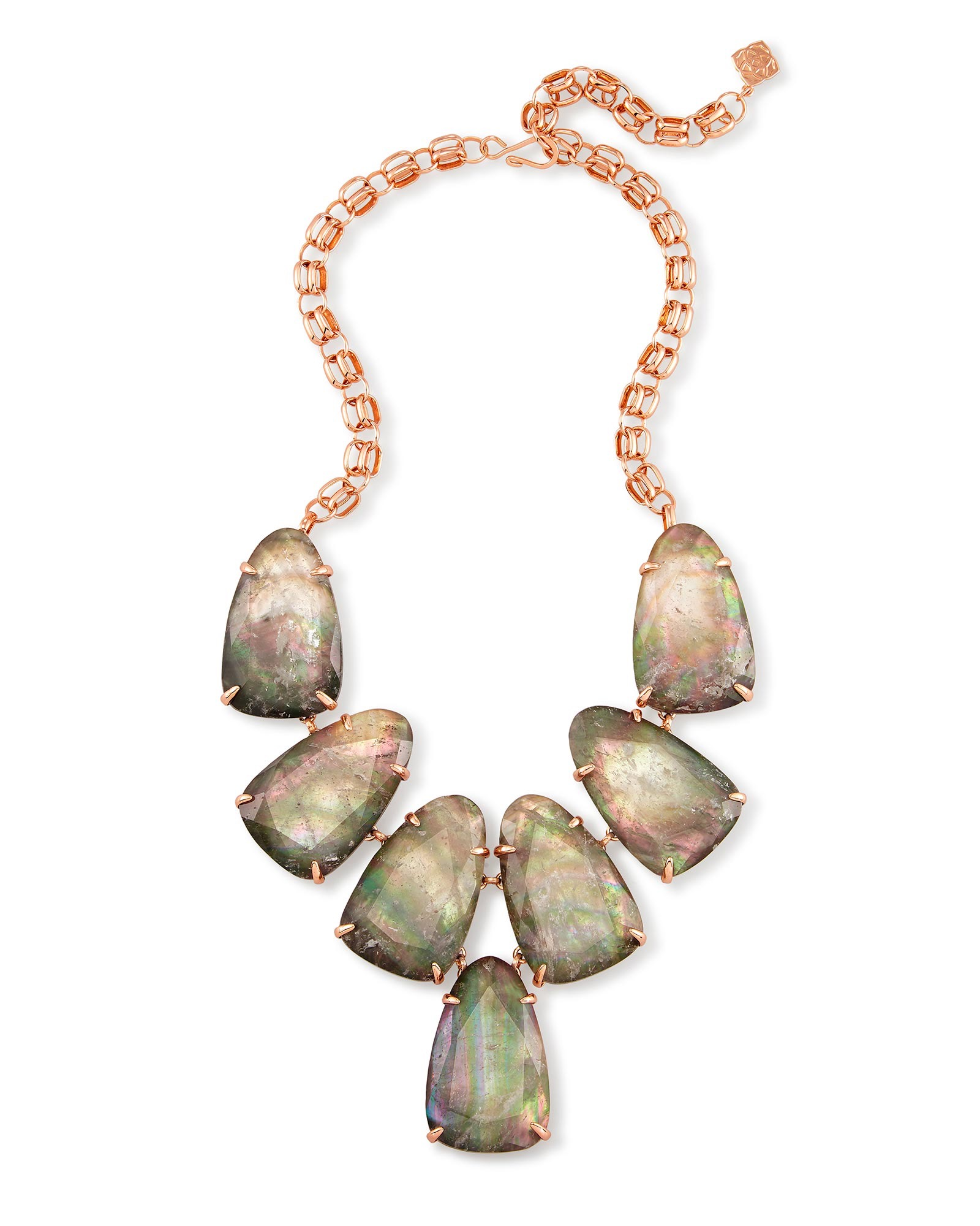Harlow Statement Necklace in Crystal Gray Illusion