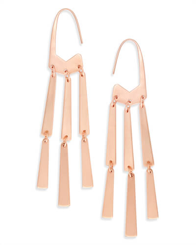 Mallie Statement Earrings in Rose Gold