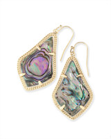 Alex Gold Drop Earrings in Abalone Shell