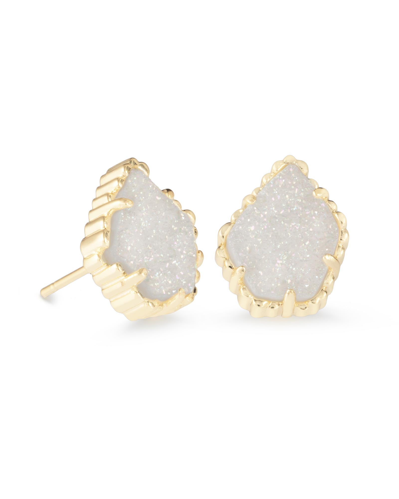 kendra earrings studs tessa gold stud earrings in iridescent drusy kendra 6205