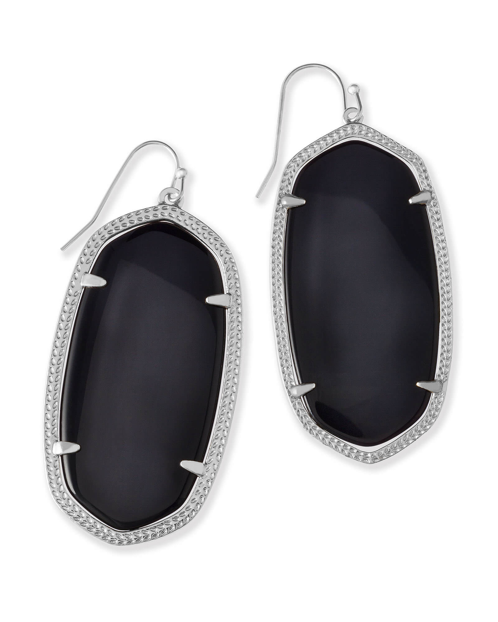 Danielle Silver Earrings in Black