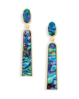 Carson Statement Earrings in Abalone Shell